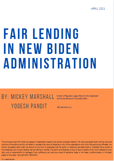 fair lending in new bidden administration